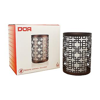 Doa - Essential oil diffuser in glass and metal with remote control 1 unit