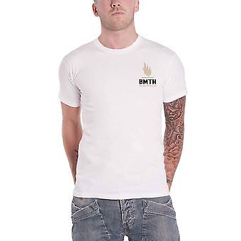 جلب لي الأفق Mens تي قميص أبيض شيفيلد ثعبان شعار الفرقة الرسمية