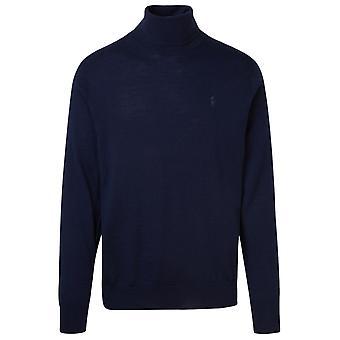 Ralph Lauren 710771090002 Men's Blue Wool Sweater