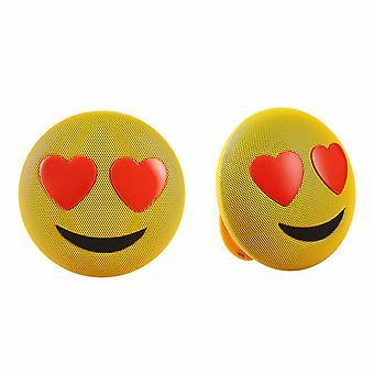 Jamoji Emoji Portable Bluetooth Speakers with Integrated Stand, Love