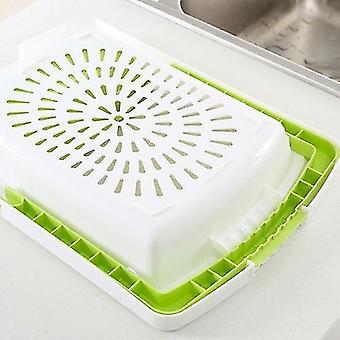 Blocs de hachage de cuisine multifonction éviers Drain Basket Cutting Board