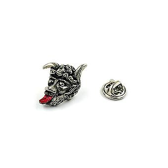 Clutch Pin Brooch Devil With Red Tongue