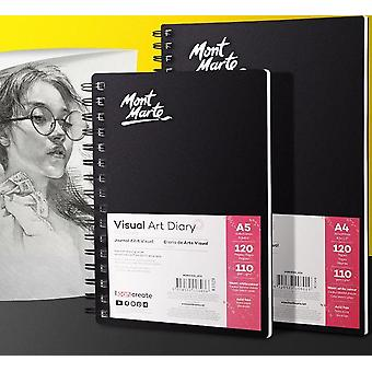 110gsm Watercolor Sketchbooks For Drawing Paper, Portable Coil Album Markers
