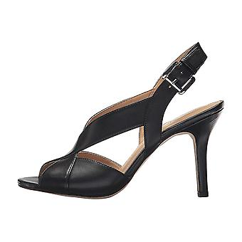 Michael Michael Kors Womens Becky Sandal Leather Peep Toe Special Occasion Sl...