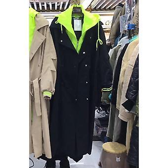 الكورية زائد حجم كاكي معطف طويل الملابس الشتوية