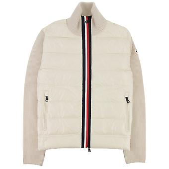 Moncler Maglione Tricot Card Cardigan Off Blanco 035