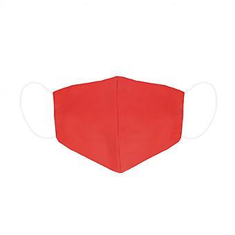 Hygieeninen uudelleenkäytettävä kangasmaski Kontakti Punainen