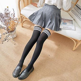 Mini Women Fashion School Student Socks Spring Summer Over Knee Thigh Elastic