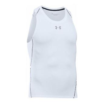 Under Armour Mens Heatgear Compression Tank Top Gym Vest White 1271335 100