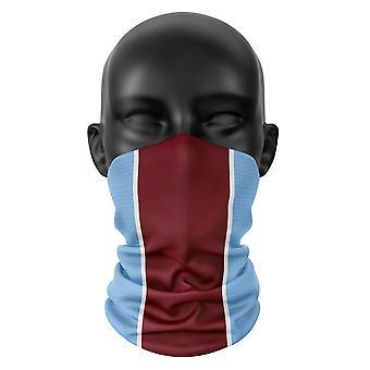 West Ham United Colours Football Snood Face Mask Head Scarf Buff Headwear Tube