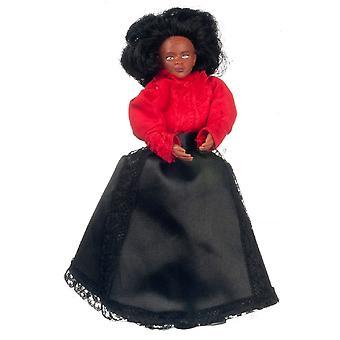 Dolls House Victorian Black Mother Mum Lady Miniature 1:12 People