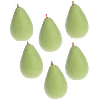 Puppen Haus grüne Birnen Miniatur Obst Küche Garten Gemüsehändler Zubehör
