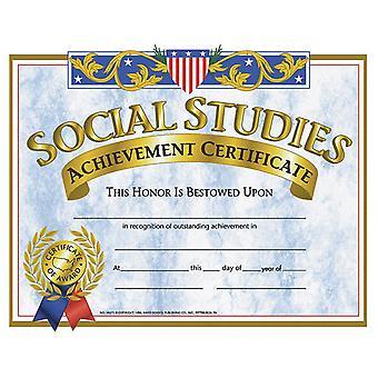Social Studies Achievement Certificate