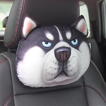 3d printed- Teddy Koiran kasvot, Niskatuen auto kaulatyyny, ilman täyteainetta