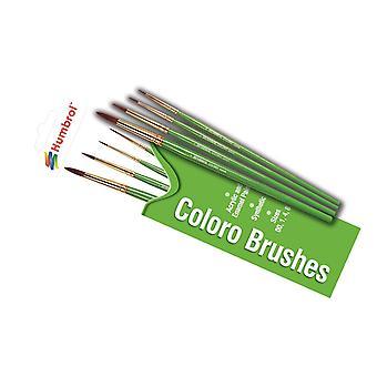 Humbrol ag4050 coloro 00, 1, 4, 8 brush pack