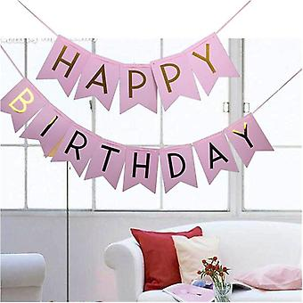 Happy Birthday - Gold Letter Photo Prop Bunting Garland Party