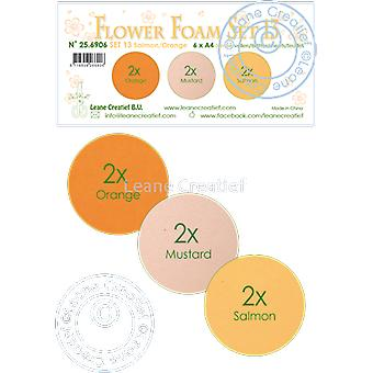 Leane Creatief Flower Foam A4 Set 13 Salmon-Orange
