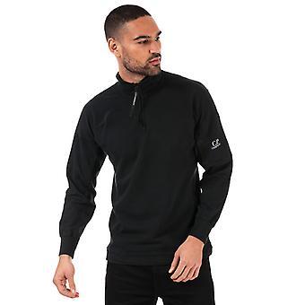 Men & apos; s C.P. Company Lens Quarter Zip Sweatshirt i svart