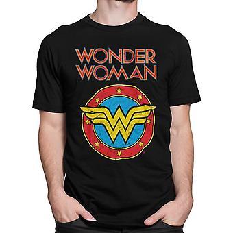Wonder Woman Unisex Volwassen Vintage T-shirt