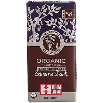 Equal Exchange Organic 88% Extreme Dark Choc 80g x14