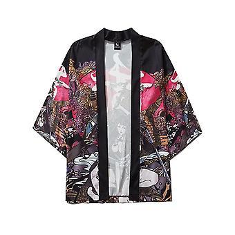 Zomer Schoonheid Samurai Traditionele Kimono