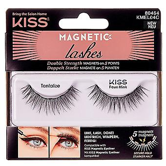 Kiss Reusable Magnetic Lightweight Lashes - Tantalize - Faux Mink Effect Falsies