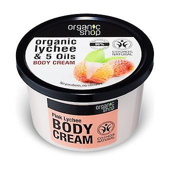 Moisturizing Body Cream with Pink Litchi (bdih) 250 ml of cream