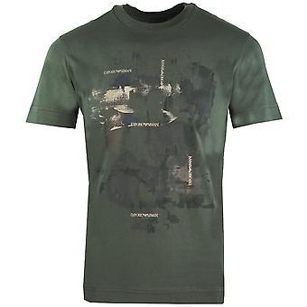 Emporio Armani Abstract Print Vihreä T-paita