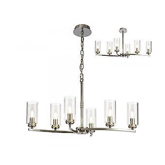 Lámpara Colgante De Diseño Contri 6 Bombillas Níquel Pulido 31 Cm