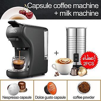 Capsule Coffee Machine, Multiple Espresso Maker, Ground  Pod
