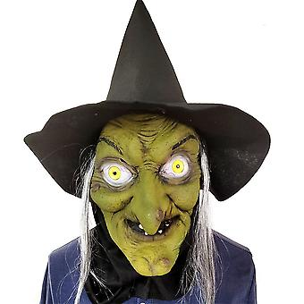 Halloween Horror Witch Mask Scary Latex Hoofddeksels Cosplay Party Rekwisieten