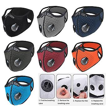 Breathable Wind-proof Sport Face Mask With Activated Carbon