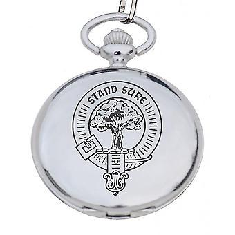Art Pewter Clan Crest Reloj de bolsillo Macintyre