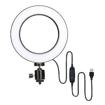 Selfie Flash Dimmable 6''/10''/12''LED Ring Video Light Phone Holder & USB Cable