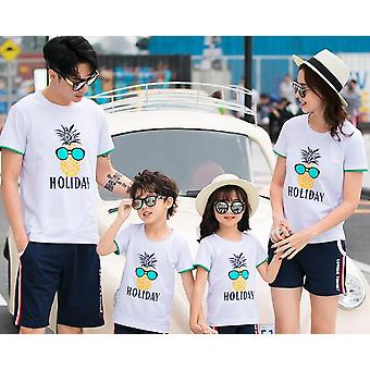 Familie Matching Love T-shirts, Moeder Dochter Vader Zoon Shirts