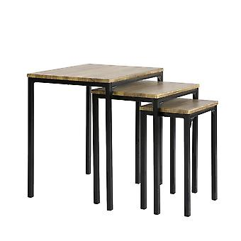 SoBuy FBT84-N,Set of 3 Auxiliary Nesting Tables for living room