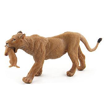 Modèle de famille de lion de parc animalier, jouet de modèle d'éducation précoce d'animal de forêt sauvage