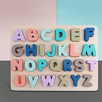tre puslespill leketøy spill - engelske bokstaver abc tall læring