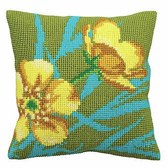 Collection d'Art Cross Stitch Kit: Cushion: Golden Button