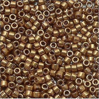 Miyuki Delica Beed Beads, Tamaño 15/0, 4 Gramos, Metal Light Bronze DBS022L