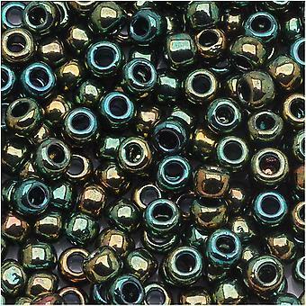 Toho Pyöreä Siemenet 6/0 #507 'Korkeampi Metallinen Iris Green' 8g