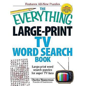 El libro de búsqueda de palabras de Everything LargePrint TV por Charles Timmerman