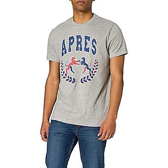 Springfield Camiseta Regular Varsity Reconsider T-Shirt, Medium Grey, M Men's