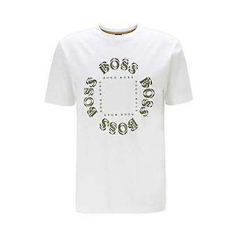 BOSS Tee 5 T-Shirt, White (Open White 112), X-Large Men