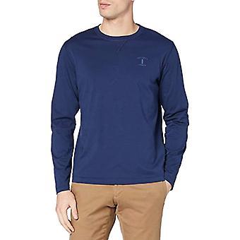 Hackett Mr Clasc LS Tee T-Shirt, Blue (Navy), Large Man