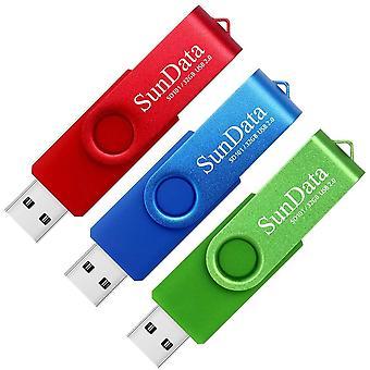 FengChun 32GB Memory Stick 3 Pack USB 2.0 Flash Drive Schwenken Design Daumenlaufwerke USB Stick Pen Laufwerk