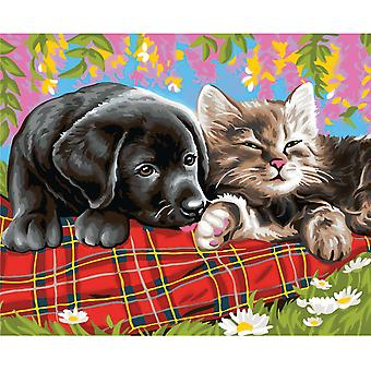 Sequin Art Friends Large Painting By Numbers