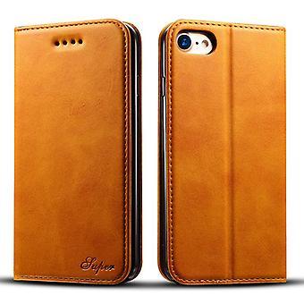 Lommebok skinnveske kortspor for iphone8plus khaki på594