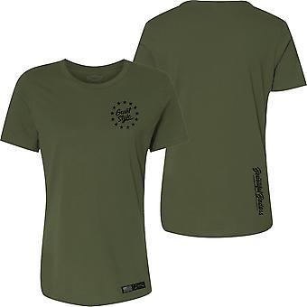 Grunt Style Naisten rento istuvuus Beautiful Badass 2.0 T-paita - Military Green