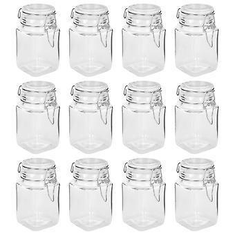 vidaXL mason jar with ironing fastener 12 pcs. 260 ml